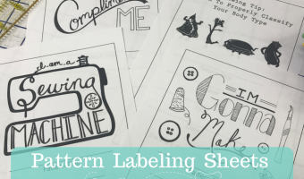SewHere Pattern Labeling Sheets