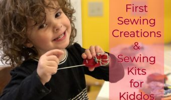Zelda's First Sewing Creations and Kid Sewing Kit Ideas
